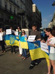 """Flash mob """"No a la guerra en Ucrania"""""""