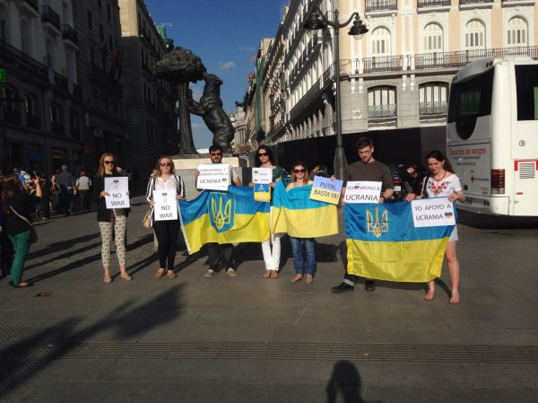 apoyo a Ucrania Madrid Sol España