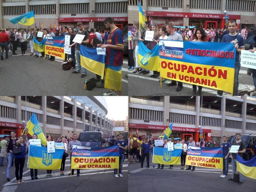 manifestación en contra de gazprom en apoyo a Ucrania, Madrid
