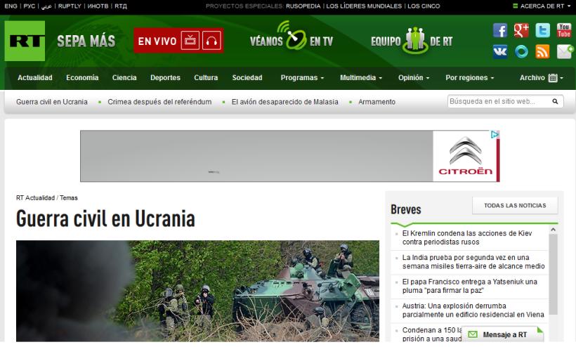 Situación en Ucrania según RT