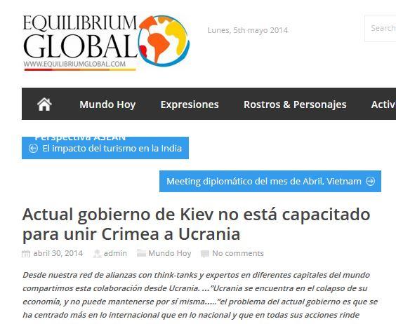 entrevista sobre Ucrania Rusia