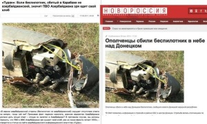 Avión no tripulado que no fue derribado en Donetsk, sin embargo los medios rusos lo afirman.