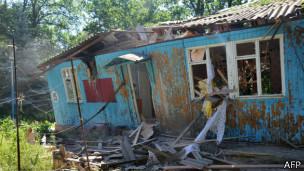 """Separatistas prorrusos utilizan el centro de recreación """"Dubrava"""" en el bosque cerca de la aldea """"Stanitza de Luhansk"""" como su sede. Fue acatado por el ejército ucraniano a principios de junio"""