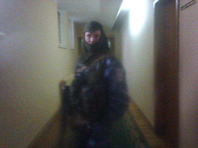 """Alexandr Fokin en el uniforme de """"Berkut"""""""
