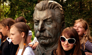 A Stalin monument in Grūtas park, Druskininkai, recalls Lithuania's past as a Soviet republic. Photograph: Alamy