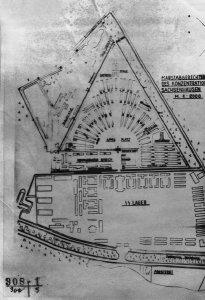 Plano del campo de concentración de Sachsenhausen.