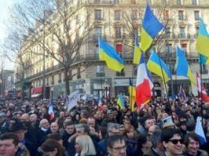 """""""Marcha de Unidad"""" en Paris"""