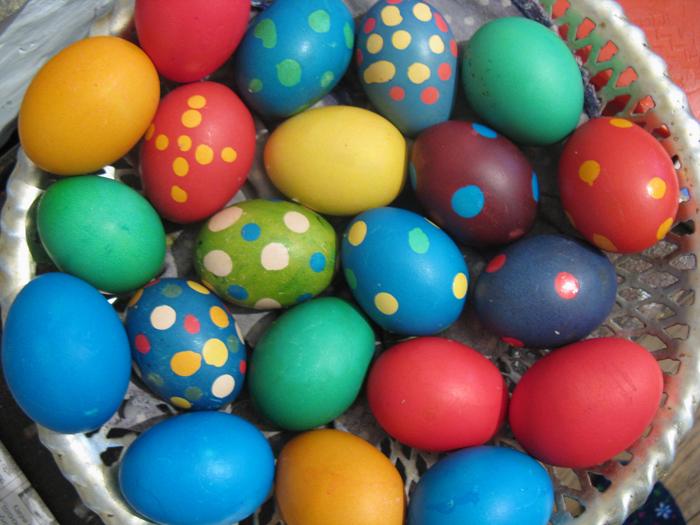 Huevos pintados de Pascua