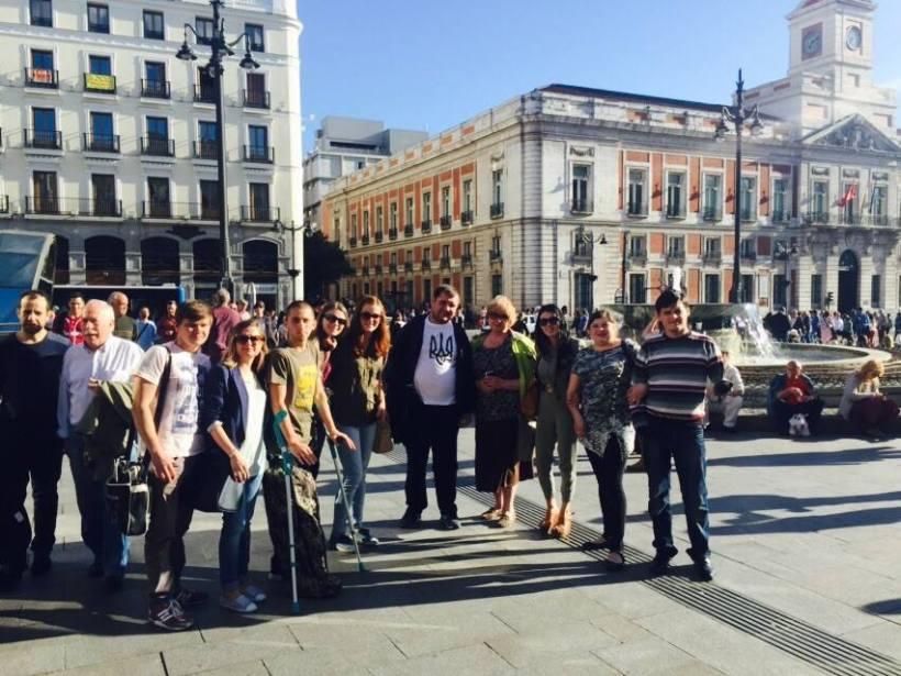La Plaza de Sol, Madrid