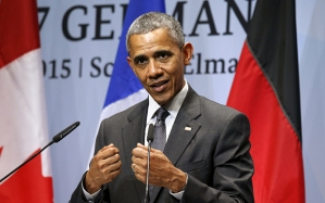 Mr Obama said the US would increase the sanctions on Russia if Mr Putin's aggression did not cease Photo: Kevin Lamarque/Reuters