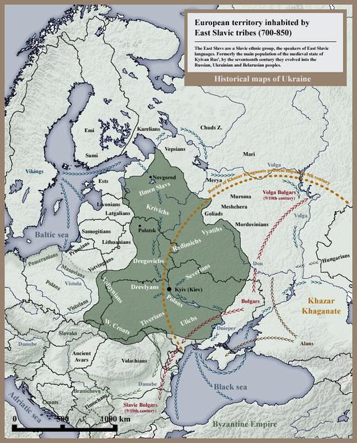 El mapa histórico de Ucrania