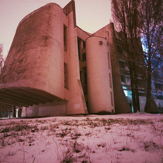 La facultad de física. Universidad Nacional de Kiev, arquitectura soviética