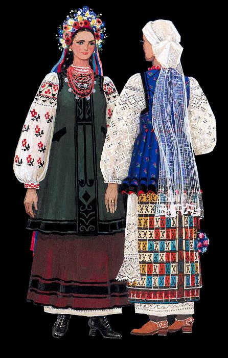 Traje nacional de Poltava, traje de mujer ucraniana