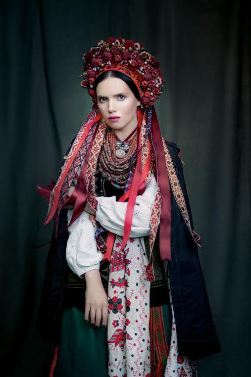 Traje de novia ucraniana tradiccional