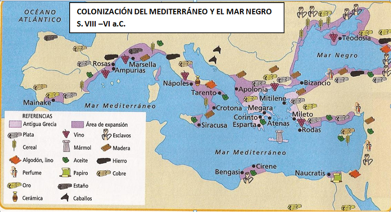 COLONIZACION DE LAS POLIS SIGLO VII