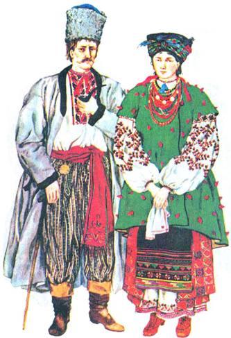 Traje nacional ucraniano de la región de Poltava