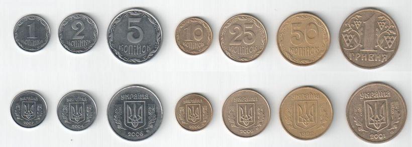 Todas las monedas de Ucrania