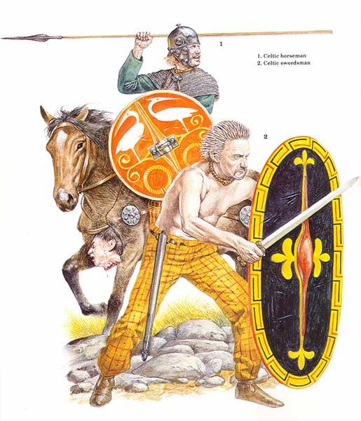 Jinete y guerrero celtas