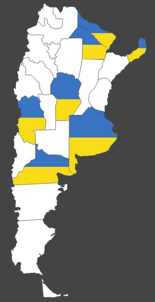 Mapa con ucranianos