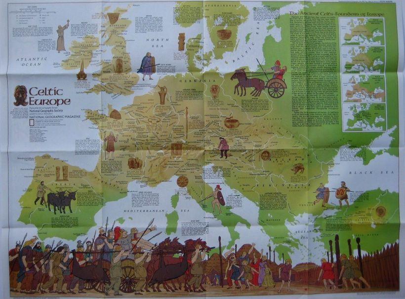 Mapa de la expansión celta en Europa y Asia Menor