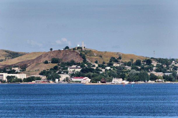Vista de Kerch desde el estrecho