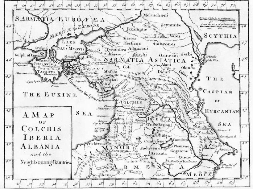 Mapa antiguo de la región